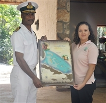 Commander of Royal Bahamas Defense Force Visits Preserve