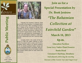 Preserve Lecture Series: The Bahamian Collection at Fairchild Gardens