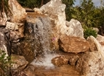 Waterfall at the new Freshwater Wetland