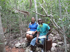 Summer Interns Trained in Bahamian Terrestrial Natural History